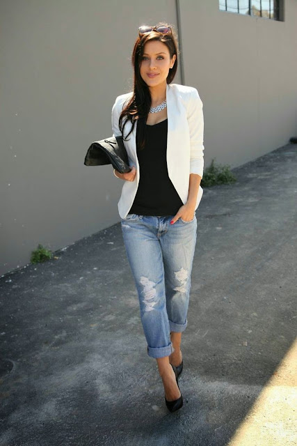 White Slim and short body Blazer for Casual or Office Wear