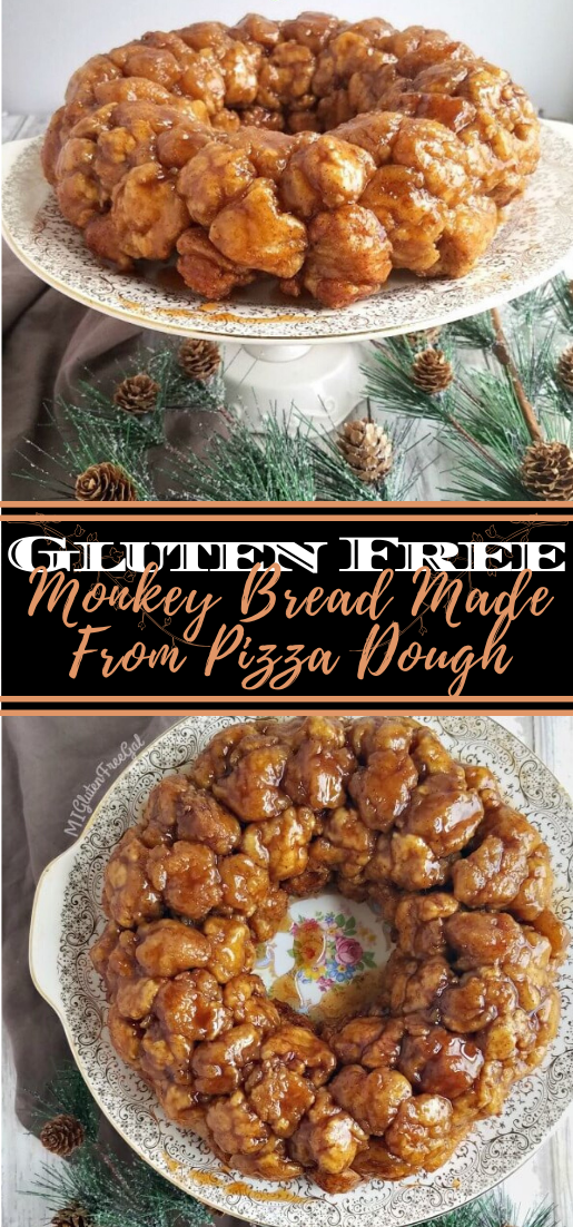 Gluten Free Monkey Bread Made From Pizza Dough #desserts #cakerecipe #chocolate #fingerfood #easy