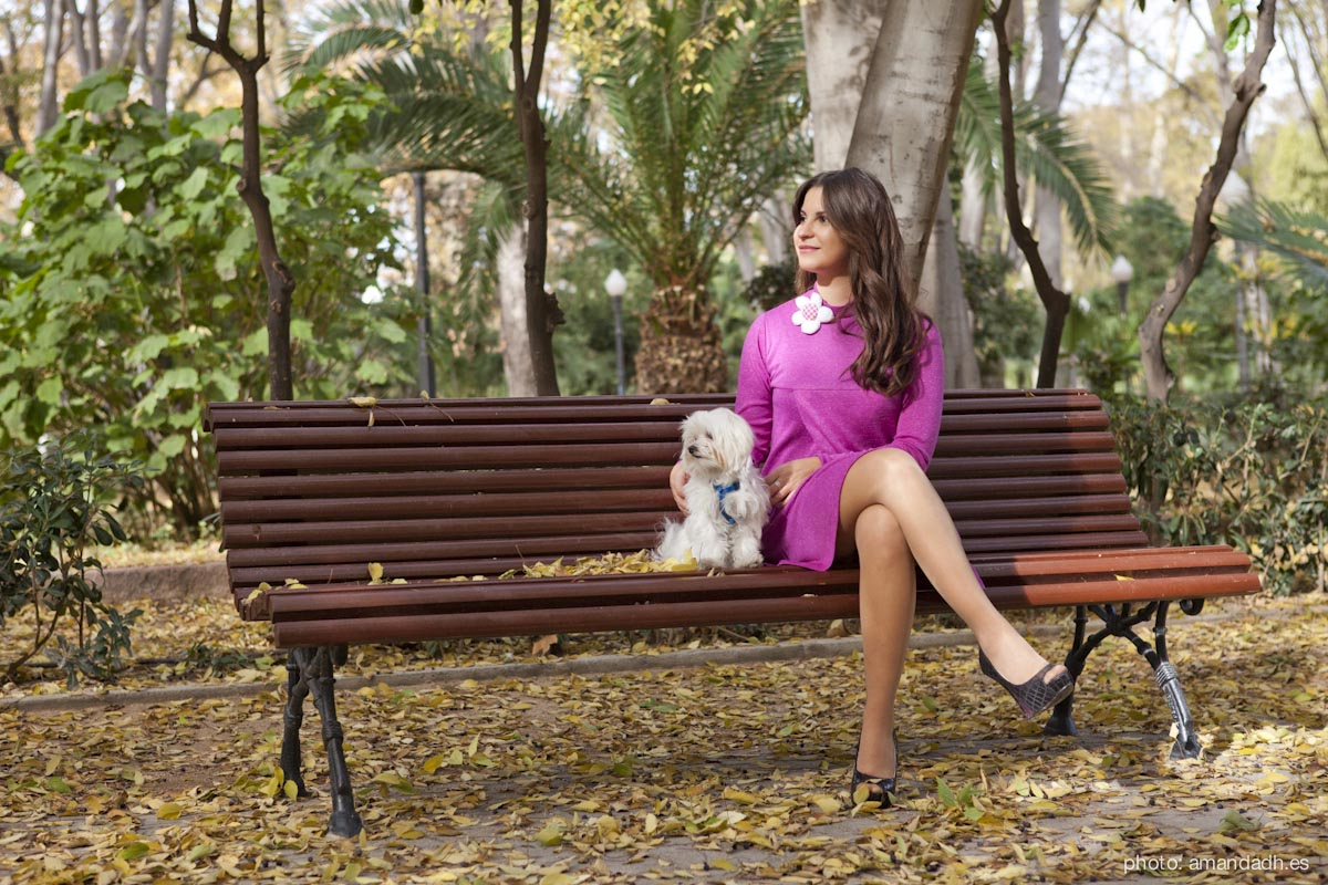 Dress in park - Senorita Martita FALL-WINTER street style by Amanda Dreamhunter - made in Spain