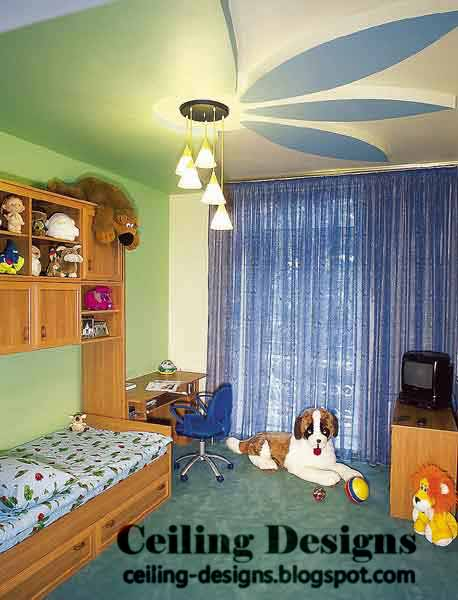 Kids Room False Ceiling Design: Modern Heart Shaped False Ceiling Design
