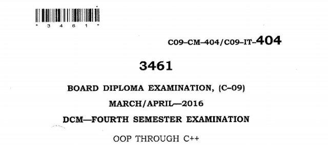 SBTET AP C-09 OOP THROUGH C++ PREVIOUS QUESTION PAPER MARCH-APRIL 2016