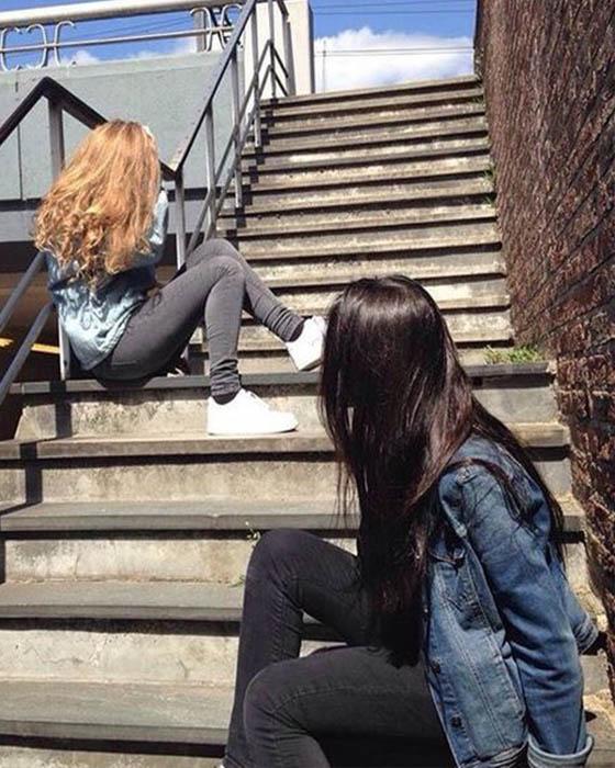 Fotos tumblr en escaleras amigas