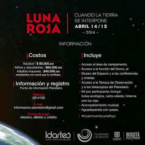 cartel campamento Luna Roja