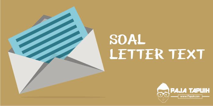 Cover Letter Dan Artinya, Kumpulan Soal Letter Text Sma Dan Pembahasan, Cover Letter Dan Artinya