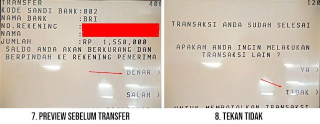 Cara Transfer dari BCA ke BRI lewat ATM
