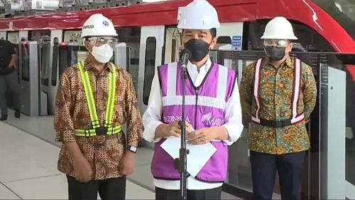 Presiden Jokowi: LRT Jabodebek Operasional Juni 2022