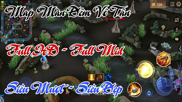 Mod Map Fix Lag 2 - Map Màn Đêm Vô Tận Full HD , Full Mid Siêu Đẹp Giảm Lag, Tiết Kiệm Pin | HQT CHANNEL