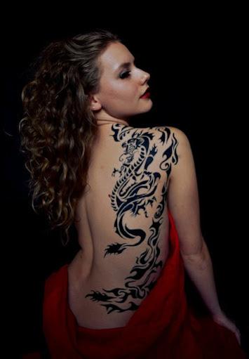 Hot Dragon Tattoos For Girls Pop Tattoo ,Tattoos Dragon Back