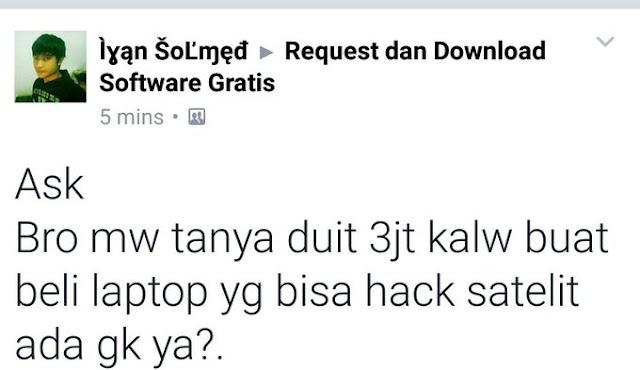 Ngakak! Pria Ini Pengen Beli Laptop Harga Rp 3 Juta yang Bisa Hack Satelit