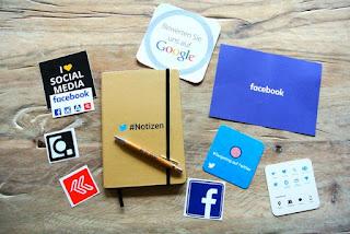 Social Media Items on A Table