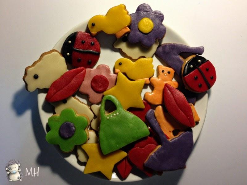 galletas de mantequilla con Fondant.