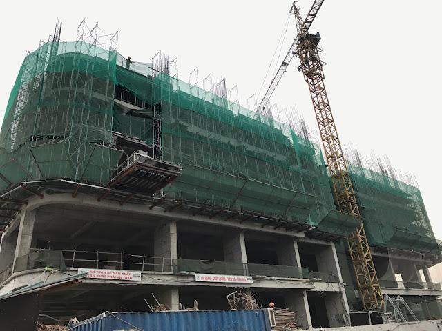 Tiến độ xây dựng tòa CT3 dự án Gelexia Riverside