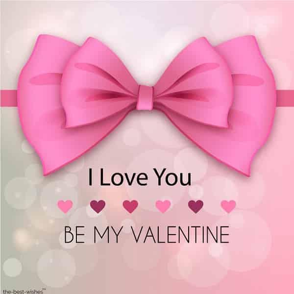 i love you be my valentine