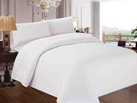 Red Nomad Luxury Duvet & Sham Set, Hypoallergenic, Twin/Twin XL, White