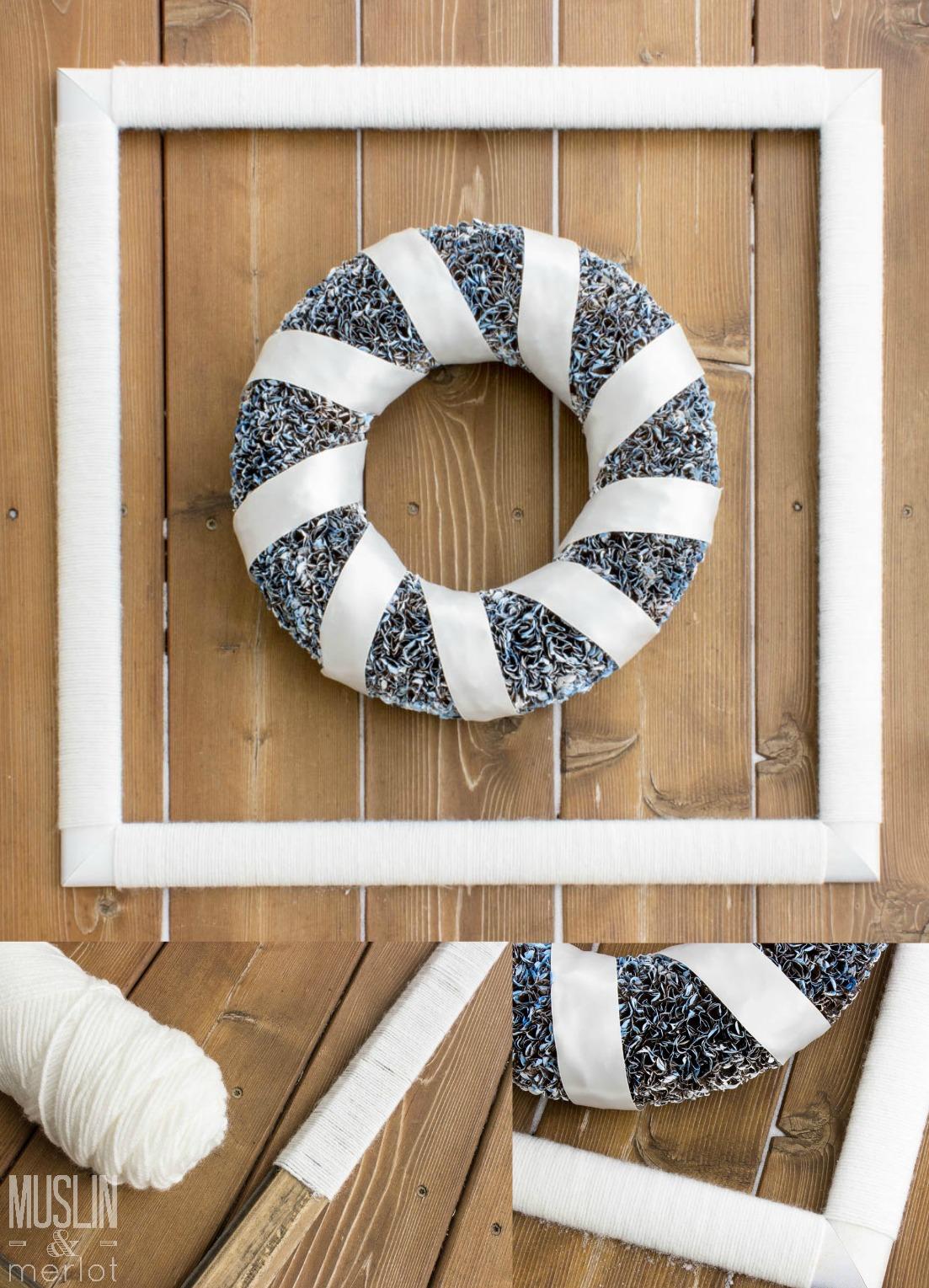 Yarn Wrapped Frame Muslin And Merlot