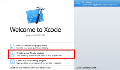 Open the Xcode app and create a new project