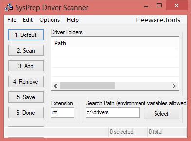 DRIVER SCANNER SYSPREP