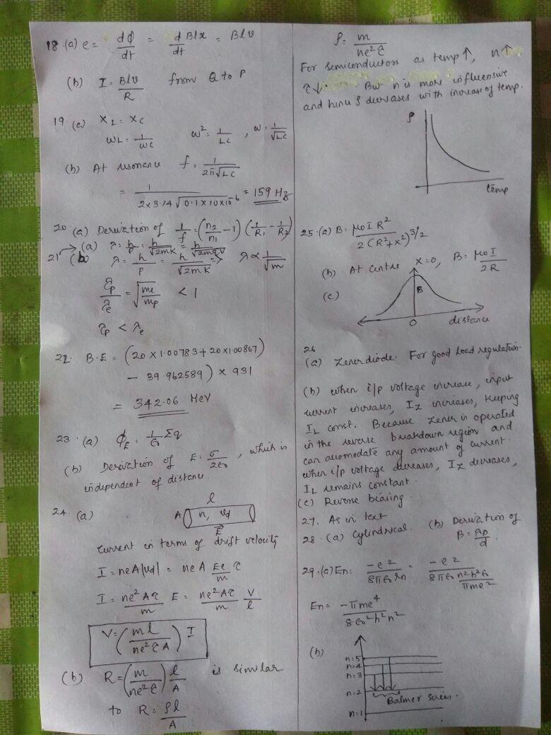 S N V PHYSICS: Answer key of physics Model exam DHSE 2018