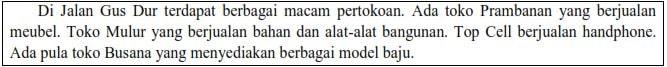 Soal Ujian Sekolah Bahasa Indonesia SD
