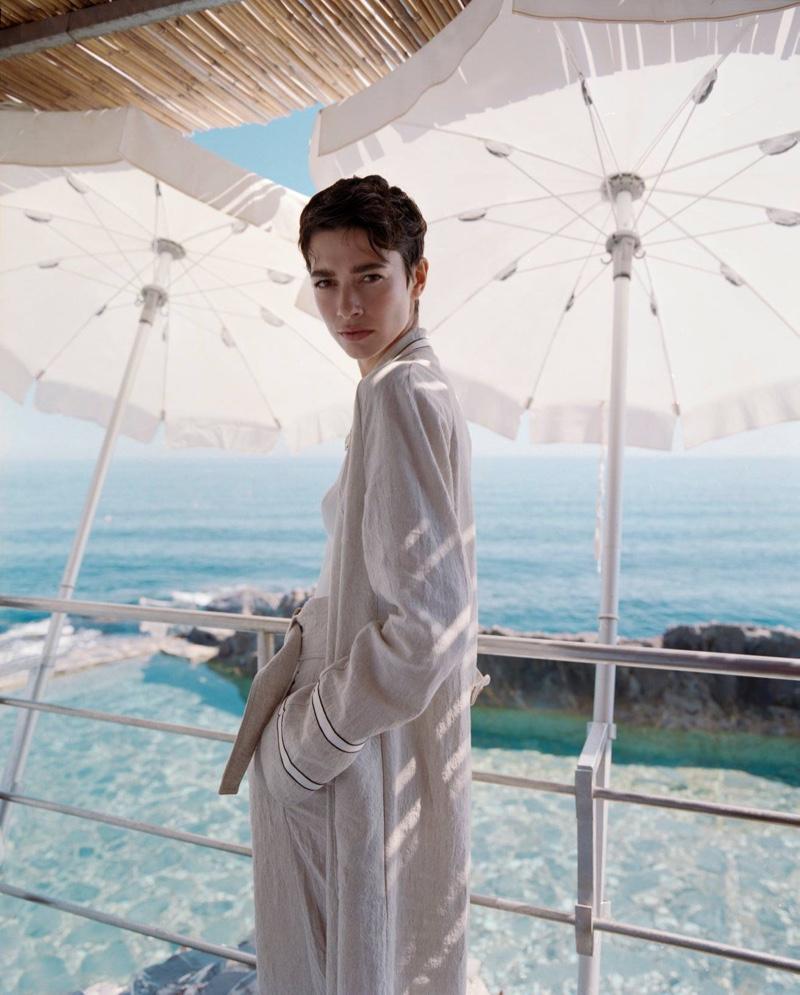 Giorgio Armani Summer 2021 Campaign featuring Louise de Chevigny