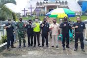 TNI, Polri, Panji Yosua dan GP Ansor Kawal Ibadah Jumat Agung di Minsel