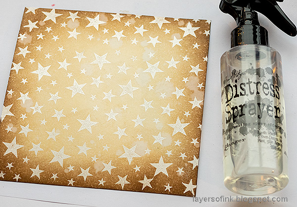 Layers of ink - Star Panel Tutorial by Anna-Karin Evaldsson.