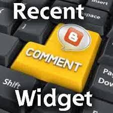recent comments widget blogger