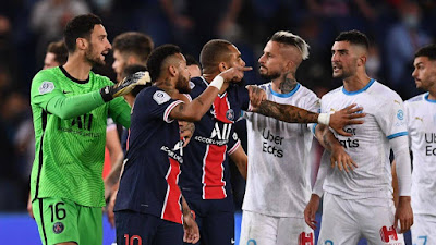 مواجهه ناريه بين باريس سان جيرمان ضد مارسيليا فى كأس السوبر الفرنسى