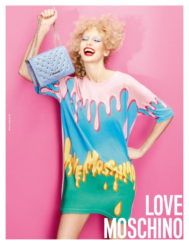Lili Sumner is All Smiles in Love Moschino Spring 2020 Campaign