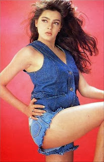Mamta Kulkarni Legs Show In Blue Short