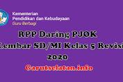 RPP Daring PJOK 1 Lembar SD/MI Kelas 5 Revisi 2020