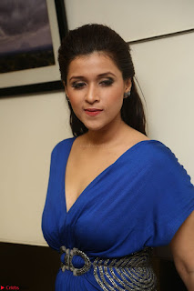Mannara Chopra in Short Blue Dress at Rogue Movie Teaser Launch 1st March 2017 088.JPG