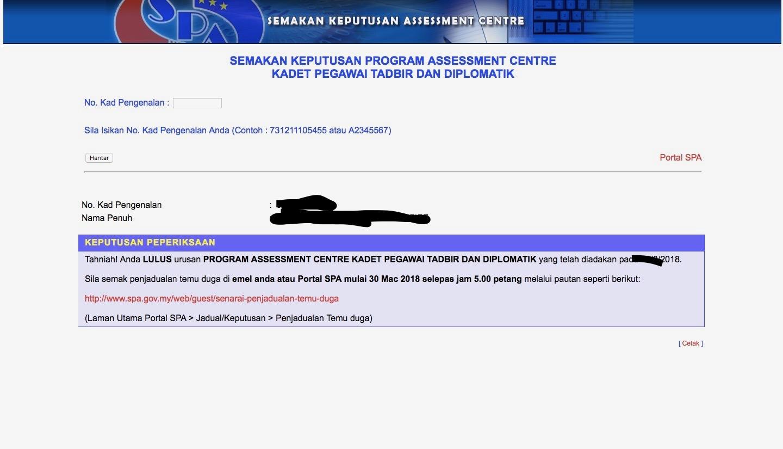My Story Keputusan Pac Ptd M41 2018