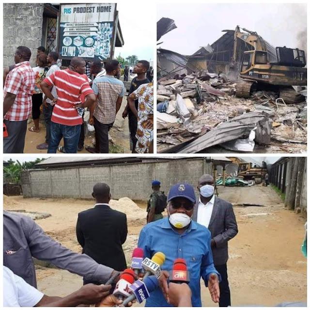 REVEALED: Gov. Wike Saved Eleme People By Demolishing Prudent Hotel
