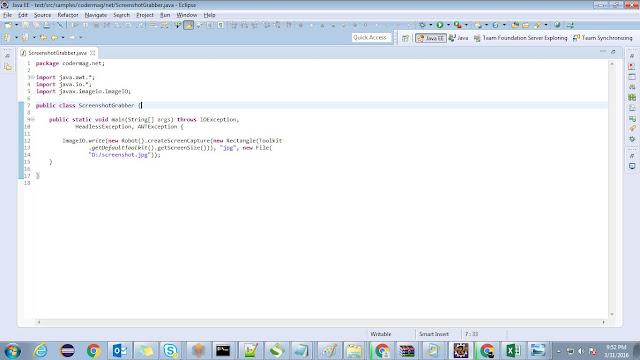 Single line Java Code to take screenshot - CoderMagnet