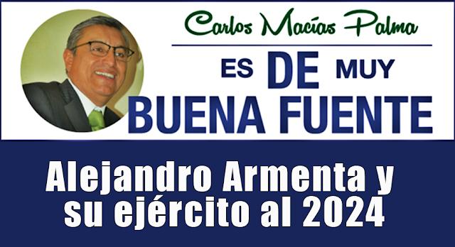Alejandro Armenta y su ejército al 2024