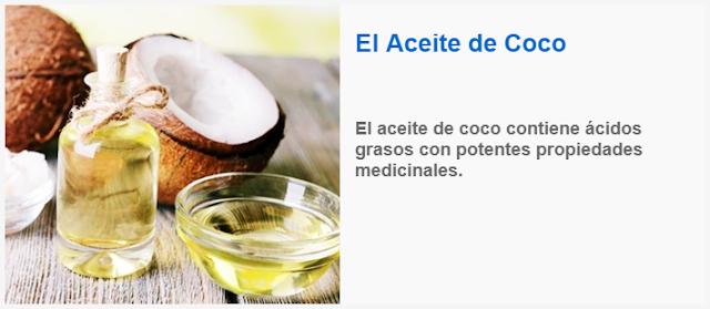 El Aceite de Coco contiene ácidos grasos con potentes propiedades medicinales