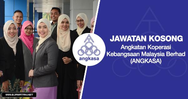 jawatan kosong Angkatan Koperasi Kebangsaan Malaysia Berhad (ANGKASA) 2020