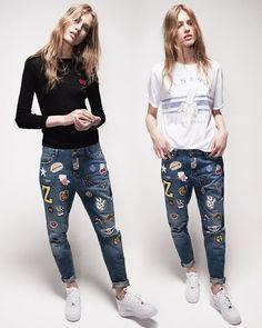 Imágenes Tendencias Moda Mujer Instagram Primavera Verano jeans bordados emojis flores