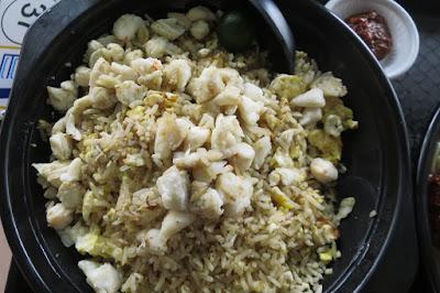 Chef Goo Red Sea Prawns Fried Hokkien Mee, crab meat fried rice