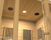 Reading light & speakers in ceiling on Maxxus Seattle MX-J206-01 Sauna