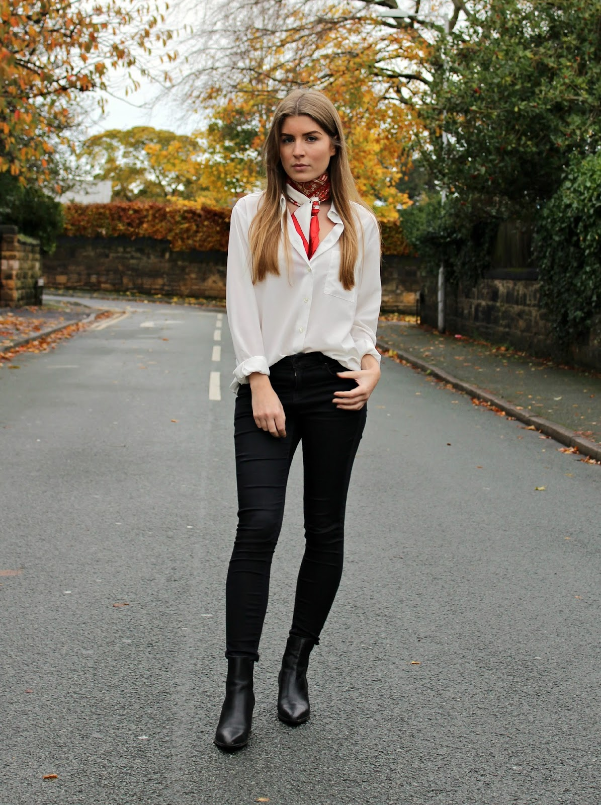 Outfit: Hermès Scarf And Skinny Jeans
