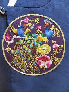 traditonal Korean Hanbok decoration - peacock