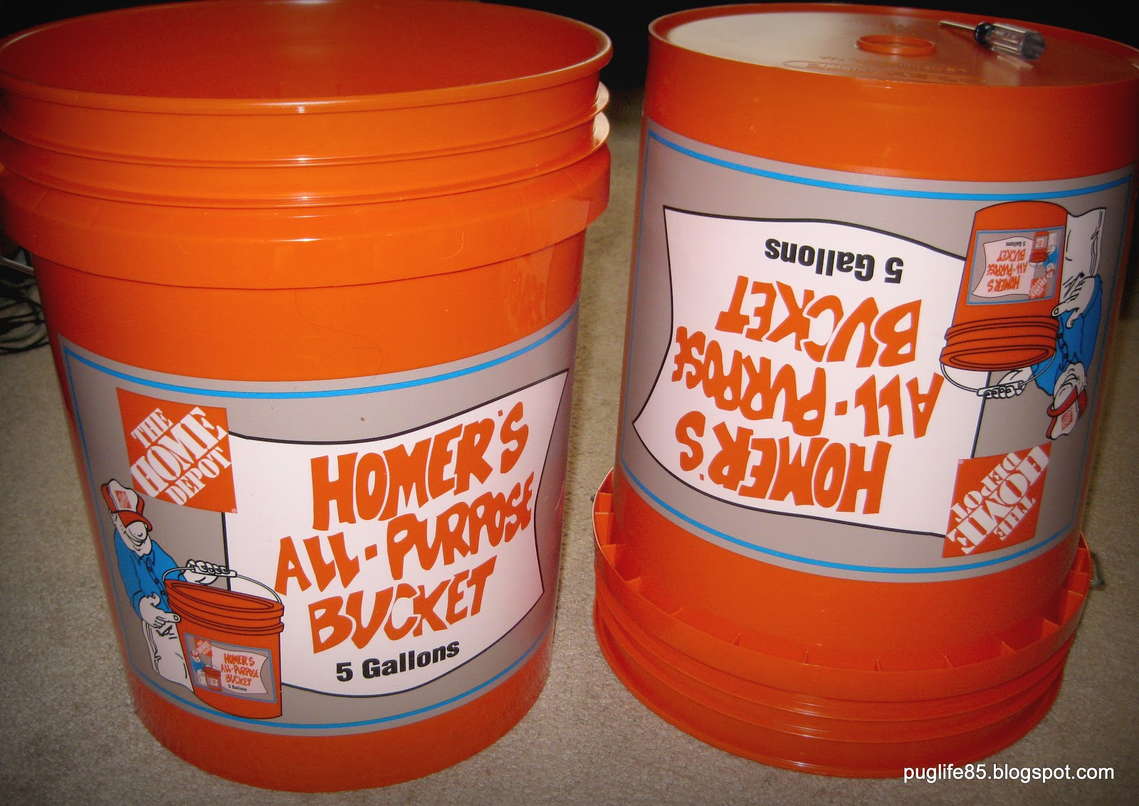 5 Gallon Bucket Home Depot Diy Container Vegetable Garden This Pug Life