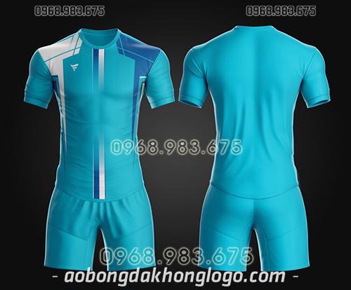 Áo bóng đá ko logo TA Thd màu xanh dương