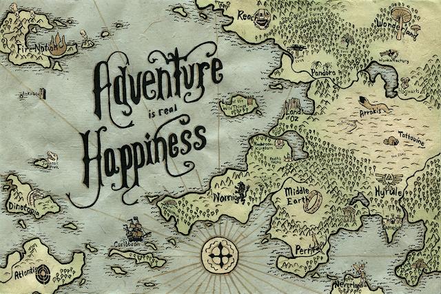 fictional world map by Alex Vitti