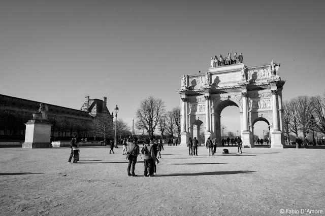 Spianata ed i giardini della Tuileries-Parigi