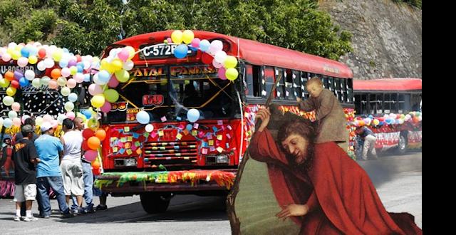 Día de San Cristobal, Patrono de los Chóferes en Guatemala