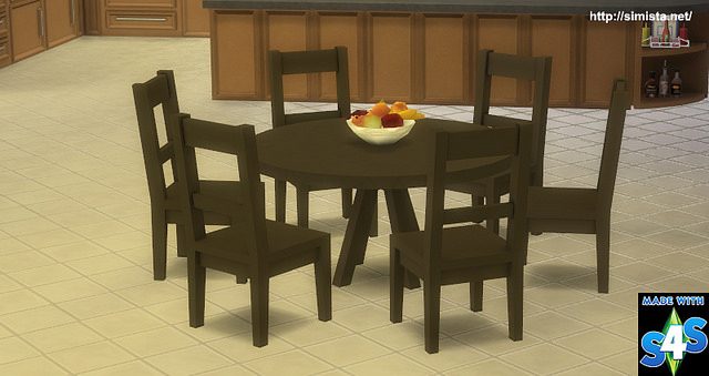 Six Seat Round Dining Table By Mr S