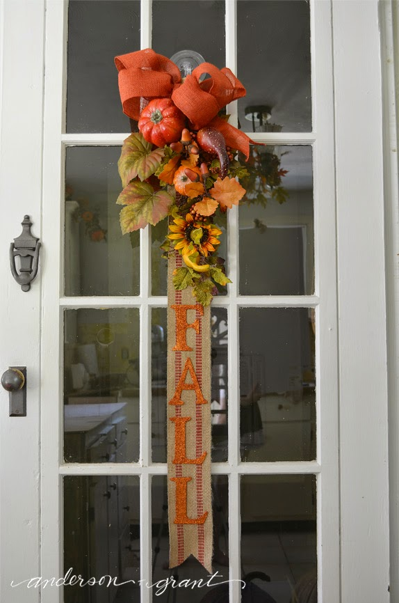 Attach a hook for hanging onto the back using either floral wire or jute twine. & Fall Banner....A Great Alternative to a Wreath! | anderson + grant